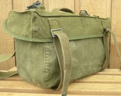 Vintage US Army Canvas Messenger Bag