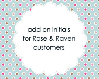 Add-on - Small Sterling Silver Initial - for Rose and Raven customers only
