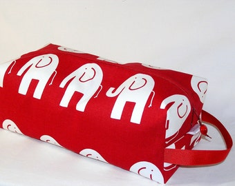 Ele the Elephant on Red Sweater Bag