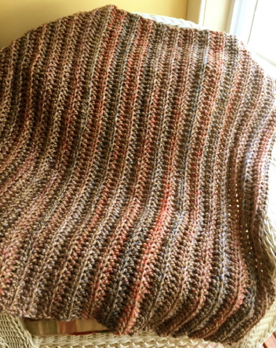 crochet BULKY baby afghan blanket wrap shawl swaddle handmade