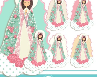 Virgen Maria Cliparts - COMMERCIAL USE OK