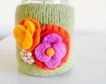 Felted Coffee Cozy