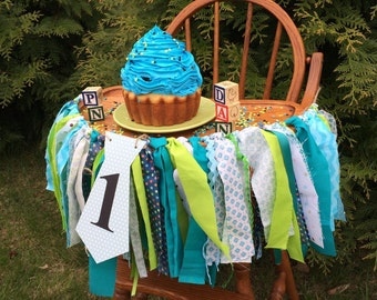 Boys First Birthday Banners, Little Man High Chair & Birthday Banners, Mustache Ties, Smash Cake Boys Birthday Party photo Props, 3 banners