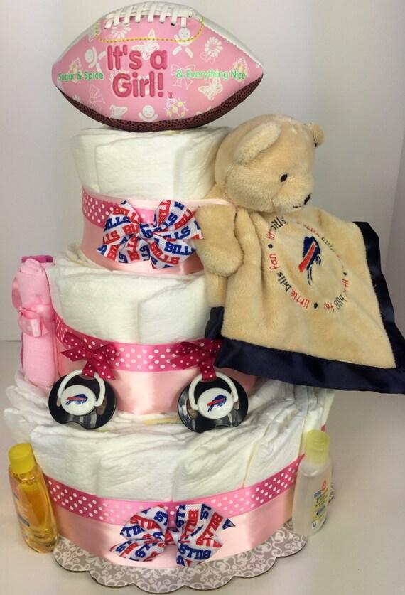Items similar to Buffalo Bills diaper cake Buffalo Bills