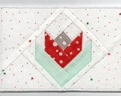Quilters Tulip, Winters Tulip Quilted Fabric Postcard