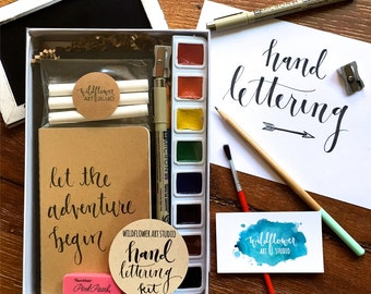 Hand Lettering Kit - Starter Set for Beginning Hand Lettering