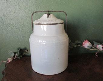 Stoneware Crock 1901 Weir Canning or Paste Jug
