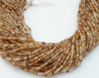 red rutilated quartz facetted roundel 4mm