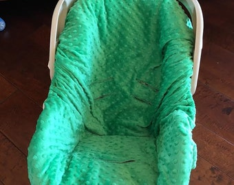 Kelly Green Minky Baby Car Seat Pad Liner - Chicco - Graco Snugride - Britax - Safety 1st - Or Choose Your Own Color