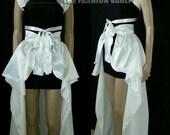 Vegas wedding Burlesque Set Collar Bolero Shrug bustle skirt and bandage Cosplay Anime White party Final sale