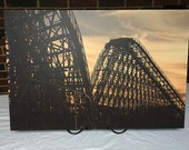 """Gemini in the Sunset at Cedar Point Roller Coaster 30""""x20"""" Canvas Print"""