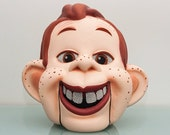 RESERVED for Linda…. HOWDY DOODY Costume Adult Mascot Latex  Over the Head Mask