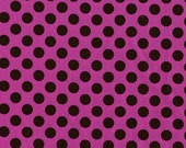 CLEARANCE SALE Orchid Ta Dot by Michael Miller Fabrics | Pink Purple Brown | By The Yard