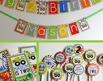 Monster Truck Birthday Party Decorations Package Fully Assembled