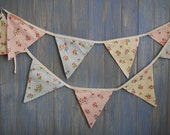 Classic Bunting. Wedding Bunting // Floral Bunting // Shabby Chic Decor // Wedding Decor // Party Bunting // Handmade Bunting // Garlands.