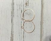 Custom Rose Gold Hoop Earrings