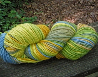 Sunrise at Tallulah Gorge--4 Ounce Worsted Weight--Wool Mohair blend--Plant Dyed