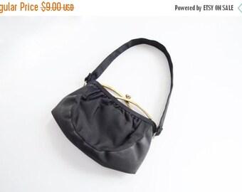SUMMER SALE As Is 1940s Black Handbag