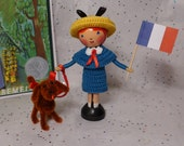 Madeline and Genevieve - Clothespin Doll