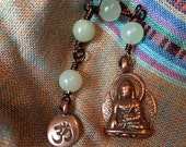 The Loving Kindness Mala - copper and serpentine  Raising money for Alzheimers Disease,