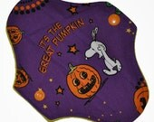 Liner Core- Great Pumpkin Snoopy Reusable Cloth Petite Pad- WindPro Fleece- 6.5 Inches