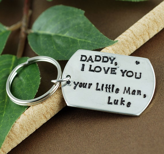 Father's Day Keychain | Gift for Dad | Daddy I Love You | Daddy Key Chains | Pewter Key Chains | Gift for Him | Dad Gifts | KeyChain for Dad