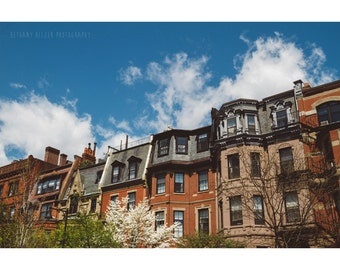 Architecture Photography Boston Rowhouse Photo Boston Architecture Urban City Fine Art Home Decor Large Wall Art Old Building Beacon Street