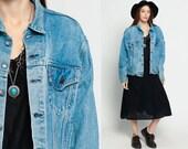 Levi Jean Jacket 80s Denim Jacket Faded Levis Coat 1980s Blue Vintage Oversized  Grunge Biker Men Women Hipster Large