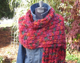Multi-colored Hand Knit Shawl