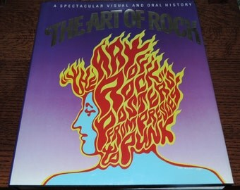 1987 The ART of ROCK Hardcover Book