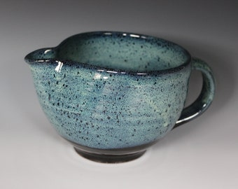 Blue and Black Stoneware Batter Bowl