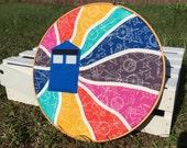 Flying Tardis Doctor Who Wall Embroidery Hoop
