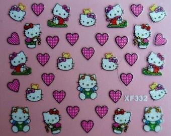 Hello Kitty Kawaii Nail Art Stickers