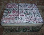 Christmas Wood Memory Box
