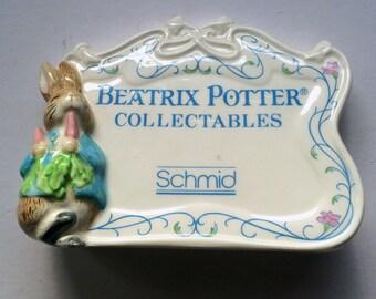Beatrix Potter Collectibles Shelf Plaque 1990 F.W. CO. Schmid