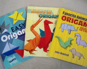 Vintage Book Craft Book Origami Pattern Booklets 3 Easy Origami Birds Animals Origami