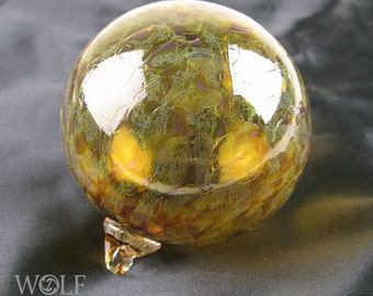 Blown Glass Christmas Ornament Topaz Old Gold