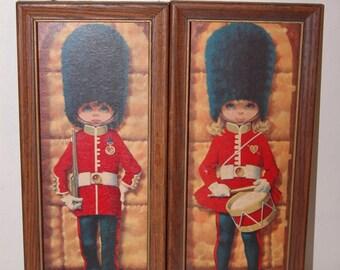 Vintage Drummer Girl & Boy Cadet  Prints British Royal Guard