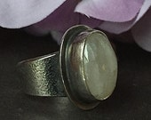 RESERVED ORDER, Rainbow Moonstone Ring, Sterling Silver Moonstone Ring