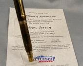 Antique Battleship Teak Rollerball Pen