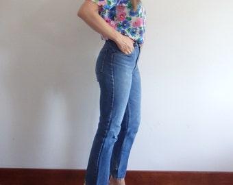Womens Blouse Vintage Floral Print Short Sleeve