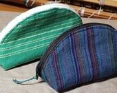 Wrap Scrap Dumpling bags handwoven zippered pouches