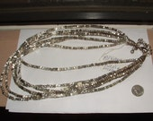 CHICOS FABULOUS NECKLACE  vintage 90s still stunning  6 rows- metal beads heavy weight