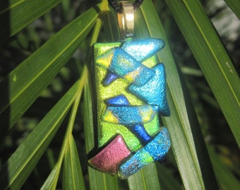 Fused Dichroic Glass Pendant