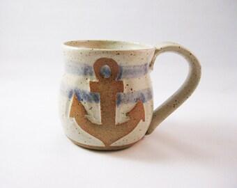 Vintage Nautical Anchor Mug