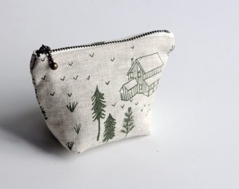 Coin Pouch - Green Homestead