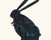 Starry Rabbit- print of an original illustration (8''x10'')