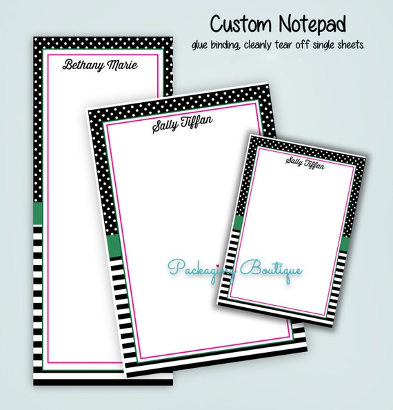 Tear Off Notepad Completely Custom Design Choose Your Size