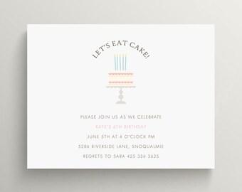 Cake Decorating Birthday Party Invitations : retro rocket birthday invitation set // baby shower invitation