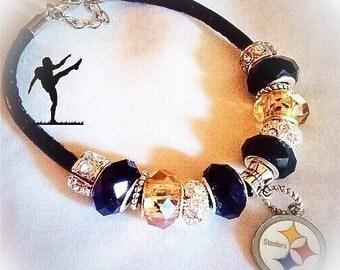Pittsburgh Steelers jewelry bracelets  handmade